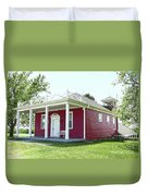 Little Red Schoolhouse, Council Grove Duvet Cover
