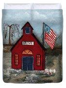 Little Red Schoolhouse Duvet Cover