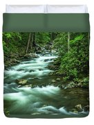 Little River Tremont Area Of Smoky Mountains National Park Duvet Cover