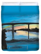 Little River Waterfront Duvet Cover