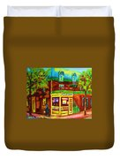 Little Shop On The Corner Duvet Cover