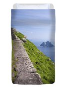 Little Skellig Island, From Skellig Michael, County Kerry Ireland Duvet Cover
