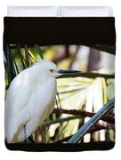 Little Snowy Egret Duvet Cover