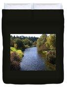 Little Spokane River Duvet Cover