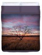 Little Tree Sunset Duvet Cover by Wesley Aston