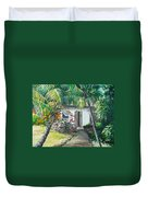 Little West Indian House 2...sold Duvet Cover