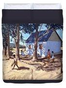 Little White House Karoo South Africa Duvet Cover