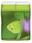 Little Yellow Butterfly Close-up Duvet Cover