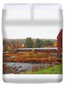 Littleton Nh Covered Bridge Duvet Cover