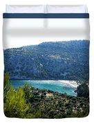 Livadi Beach On Thassos Island Duvet Cover