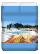 Live Dream Own Yellowstone Park Black Pool Text Duvet Cover
