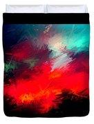 Splashing Colors Of What I Seen Duvet Cover