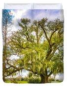 Live Oak And Spanish Moss 2 - Paint Duvet Cover