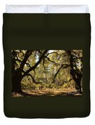 Live Oaks Silhouette Duvet Cover