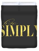 Live Simply Gold Gray Duvet Cover