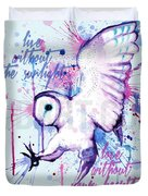 Live Without The Sunlight Owl Duvet Cover