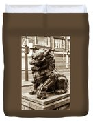 Liverpool Chinatown - Chinese Lion A Duvet Cover
