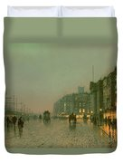 Liverpool Docks From Wapping Duvet Cover