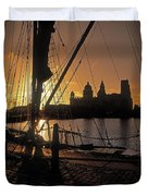Liverpool, England View From Albert Dock Duvet Cover