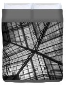 Liverpool Street Station Glass Ceiling Abstract Duvet Cover