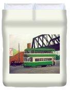 Liverpool Tram 1953 Duvet Cover