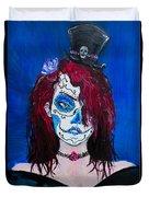 Living Dead Girl Duvet Cover by Reed Novotny