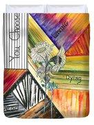 Living Dying Dead Duvet Cover