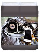 Living In Converse Resting Time  Duvet Cover