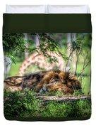 Living In Harmony - Lion Duvet Cover