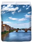 Living Next To The Arno River Duvet Cover