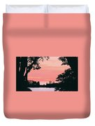 Living Room View, Photograph Duvet Cover