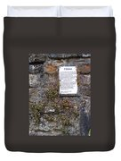 Living Wall At Donegal Castle Ireland Duvet Cover