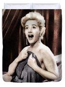 Liz Fraser, Vintage British Actress Duvet Cover