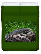 Lizard At The Zoo Duvet Cover