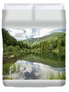 Lizard Lake Reflections Duvet Cover