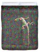 Lizard On A Screen Porch Duvet Cover