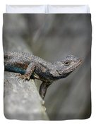 Lizard On Wood Fence Shiloh Tennessee 031620161698 Duvet Cover