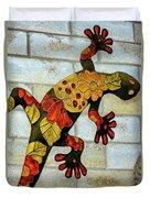 Lizard Wall Art Duvet Cover