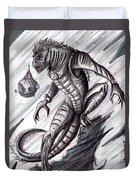 Lizard Warrior Duvet Cover