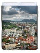 Ljubljana Slovenia With Karawanks, Kamnik Savinja, Limestone Alp Duvet Cover