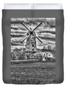 Llancayo Mill Usk 4 Mono Duvet Cover