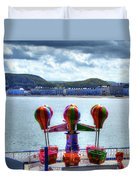 Llandudno Fun For The Kids On The Pier Duvet Cover