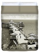 Llandudno Pier North Wales Uk Duvet Cover