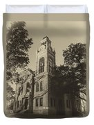 Llano County Courthouse - Vintage Duvet Cover