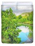 Llano River Scenic Duvet Cover