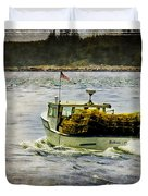 Lobster Boat 1f Duvet Cover