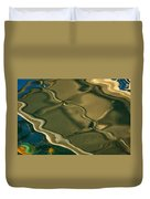 Lobster Boat Reflection Abstract #2 Duvet Cover