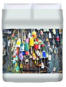 Lobster Buoys And Nets - Maine Duvet Cover
