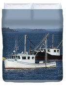 Lobster Fishing Boats Duvet Cover