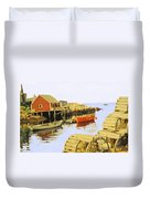 Lobster Pots Duvet Cover